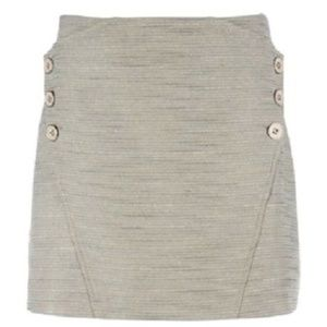 TED BAKER Metallic Button JUMMY Mini Skirt